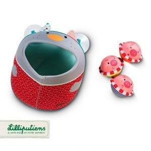 Lilliputiens koszyk z przyssawkami i 3 piłeczkami do kąpieli wilczek nicolas 18 m+