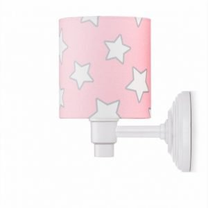 Kinkiet – pink stars