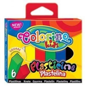 Plastelina 6-kol. kwadratowa colorino,