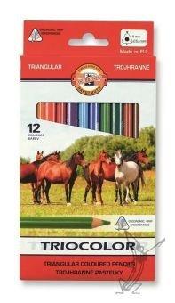 Kredki triocolor triangular 12 kolorów