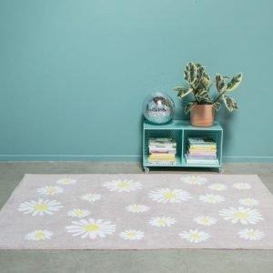 Dywan bawełniany do prania w pralce happy daisies, lorena canals 140 x 200 cm