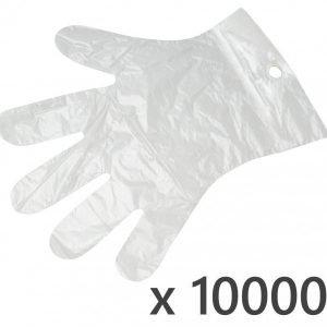 10000 szt. zrywki – foliowe rękawiczki jednorazowe zrywane hdpe