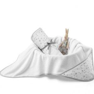 Colorstories – ręcznik bawełniany z kapturem 72×72 cm milkyway white (m)