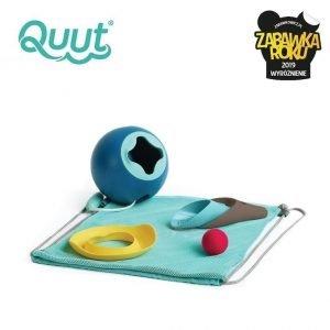 Quut set plażowy wiaderko mini ballo + 2 łopatki z piłeczką cuppi + foremka magic shaper heart w worku, edycja limitowana, 10 m+