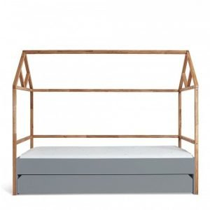 Bellamy lotta łóżko domek 90×200 z szufladą gray