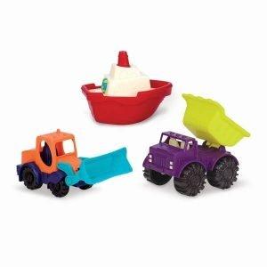 Zestaw 3 mini pojazdów do piasku i wody, b.toys
