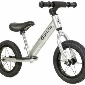 Rowerek biegowy alu hypermotion covaggio – pompowane koła , aluminiowa rama – srebrny
