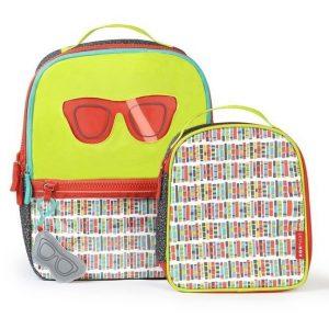 Plecak szkolny + torba śniadaniowa do szkoły forget me not, okulary skip hop