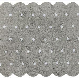 Dywan bawełniany do prania w pralce galleta gris/grey, lorena canals 120 x 160 cm