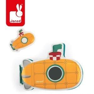 Książeczka aktywizująca do kąpieli łódź podwodna 12 m+, janod