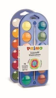 Farby wodne w pastylkach 24 kolory + pędzelek