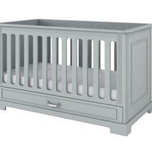 Bellamy ines neutral grey łóżeczko 70×140 z funkcją tapczanika