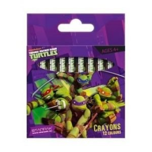 Kredki woskowe żółwie ninja – 12 kolorów
