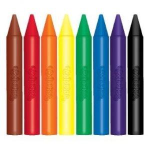 Kredki woskowe jumbo 8 kolorów