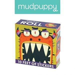 Mudpuppy naklejki na rolce potwory 100 szt.