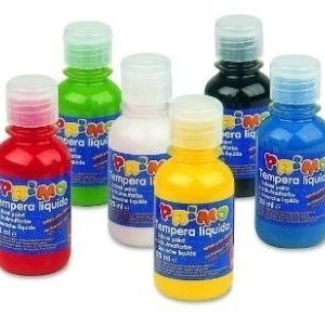 Farba plakatowa w butelkach 125 ml. występuje 6 kolorów