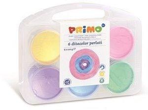 Perłowe farby do malowania palcami 6 x100g