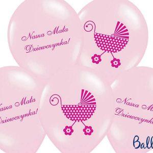 Balony 30 cm, nasza mała dziewczynka, pink, 1 op./6 szt.