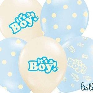 Balony 30 cm, it's a boy, pastel mix, 1 op./6 szt.