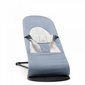 Babybjorn – leżaczek balance soft cotton/jersey – niebieski/szary