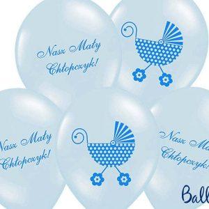Balony 30 cm nasz mały chłopczyk blue, 1 op/6 szt.