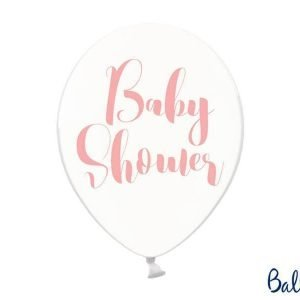Balony 30 cm, baby shower, crystal clear, 1 op./6 szt.