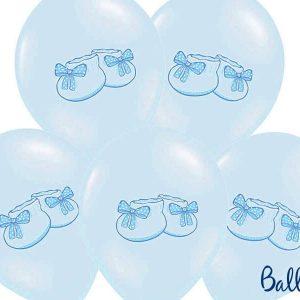 Balony 30 cm, bucik, pastel baby blue, 1 op./6 szt.