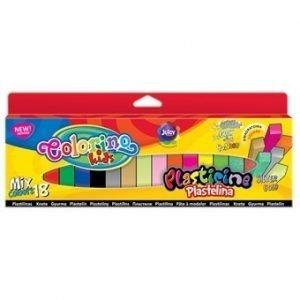 Plastelina 18-kol. kwadratowa mix kolorów