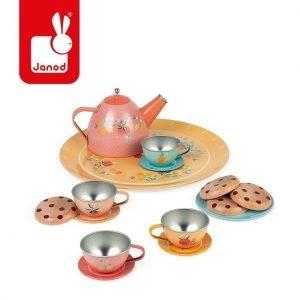Metalowy serwis do herbaty 15 elementów, janod