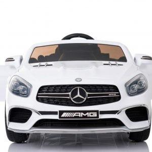 Duży samochód na akumulator mercedes sl65 amg biały – ideał