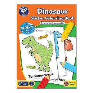 Kolorowanka – do malowania dinozaurów, od 3 lat